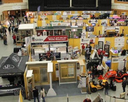 Photo of home show event booths